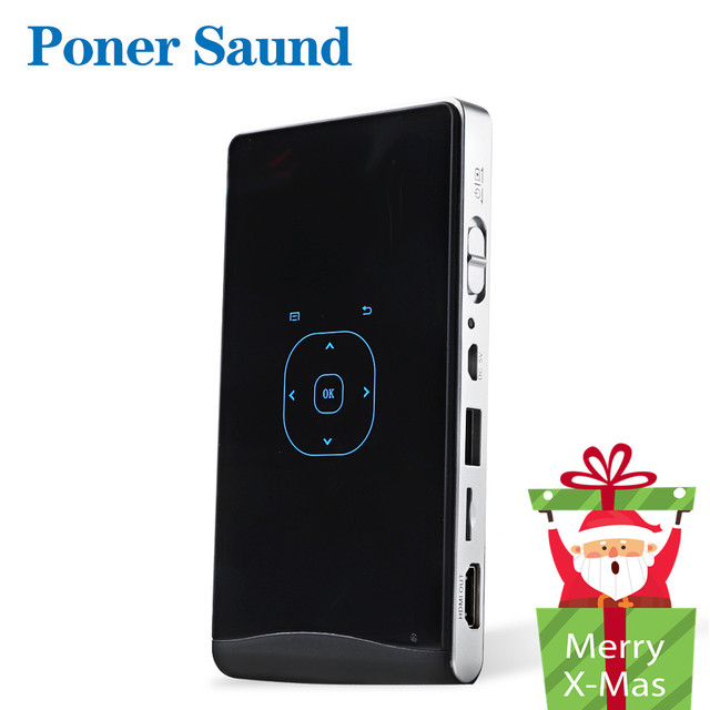 New Price Poner Saund DLP100WM MINI Projector Android Beamer Built-in WIFI Bluetooth, 2000mAH Battery HDMI Support 1080P, Portable Theater