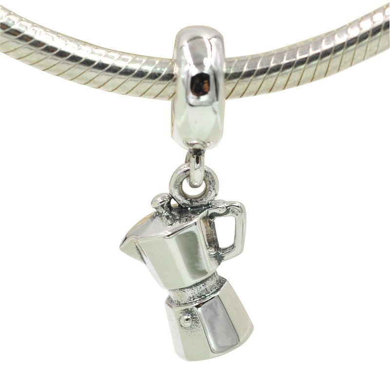 9803a04e3 Fit Pandora Charms Bracelets 925 Sterling Silver Espresso Can Charm Coffee  Lovers Dangle Charm DIY Original Jewelry-in Charms from Jewelry &  Accessories on ...