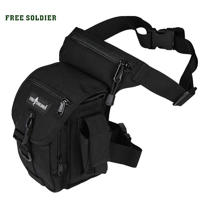 ฟรีทหารกีฬากลางแจ้ง 1000D ไนลอนยุทธวิธีกระเป๋าขาเอวขากระเป๋าสำหรับตั้งแคมป์ปีนเขาทหารเอวแพ็ค