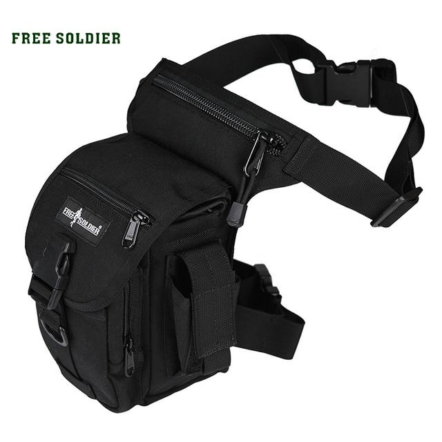 SOLDADO LIVRE 1000D Nylon Esportes Ao Ar Livre Bolsa de Perna Tático Saco Da Cintura Perna Para Camping Caminhadas Escalada Militar dos homens Da Cintura pack