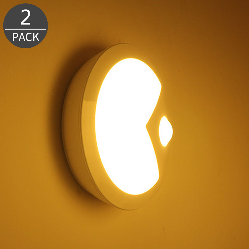 PACMAN Smart Human Sensing Infrared Induction LED Lamp Night Light for Bedroom 2Pack intelligent human body induction switch a night light light perception bedroom nightlights rechargeable led emergency light