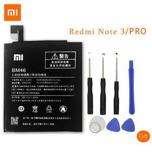 Image 1 - Xiao mi bm46 original bateria para xiao mi nota 3 nota vermelha 4 4x3 pro 3 s 3x 4x mi 5 bn43 bm41 bm47 bm22 baterias de substituição