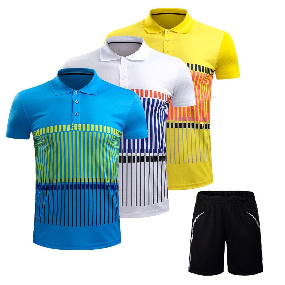 Adsmoney Для мужчин/Для женщин спортивные Бадминтон рубашка + Шорты, взрослые Бадминтон Джерси с Шорты, пинг-понг Майки костюм спортивной одежды
