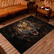 3D Tiger Carpet Cartoon Rugs And Carpets For Home Living Room Area Rug Skidproof Kitchen Rug Custom Made alfombras tapis