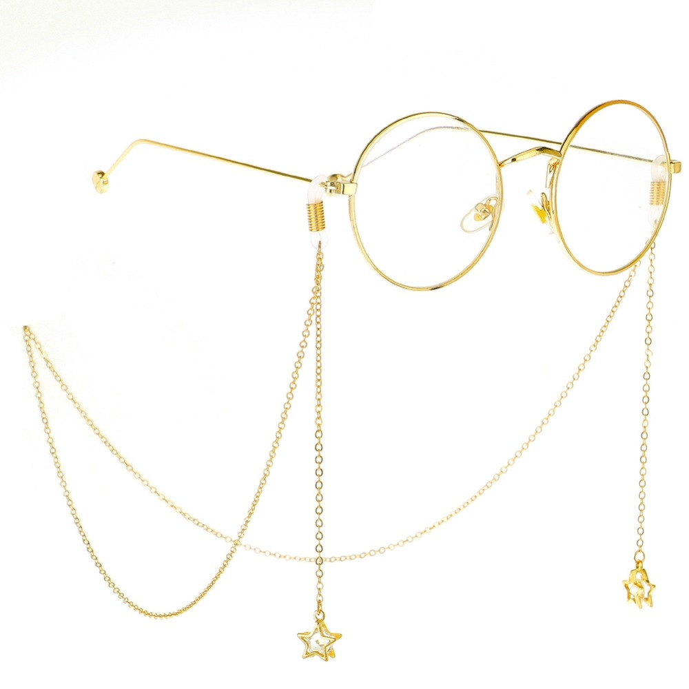 1 Stück Mode Metall Sterne Quaste Gläser Ketten & Lanyards Lesebrille Sonnenbrille Neck Kette Für Frauen Männer Brillen Zubehör