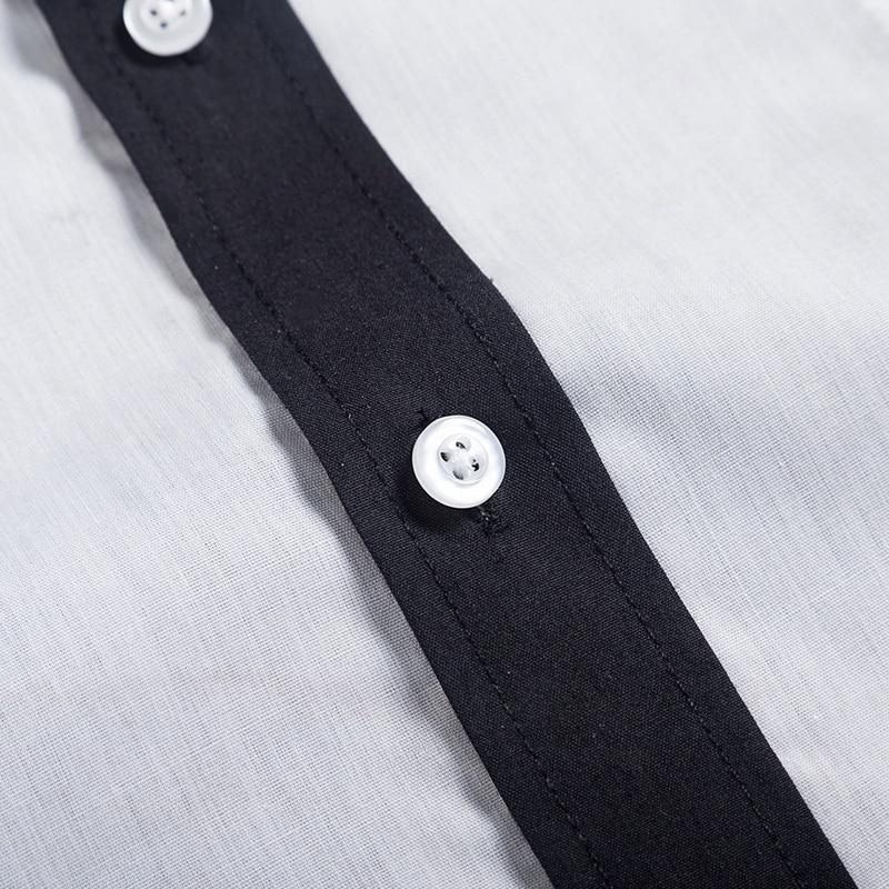 NIBESSER Classic Shirt Men Business Long Sleeve Turn-down Collar Mens Patchwork Dress Shirt Casual Slim Fit Brand Shirts Camisas