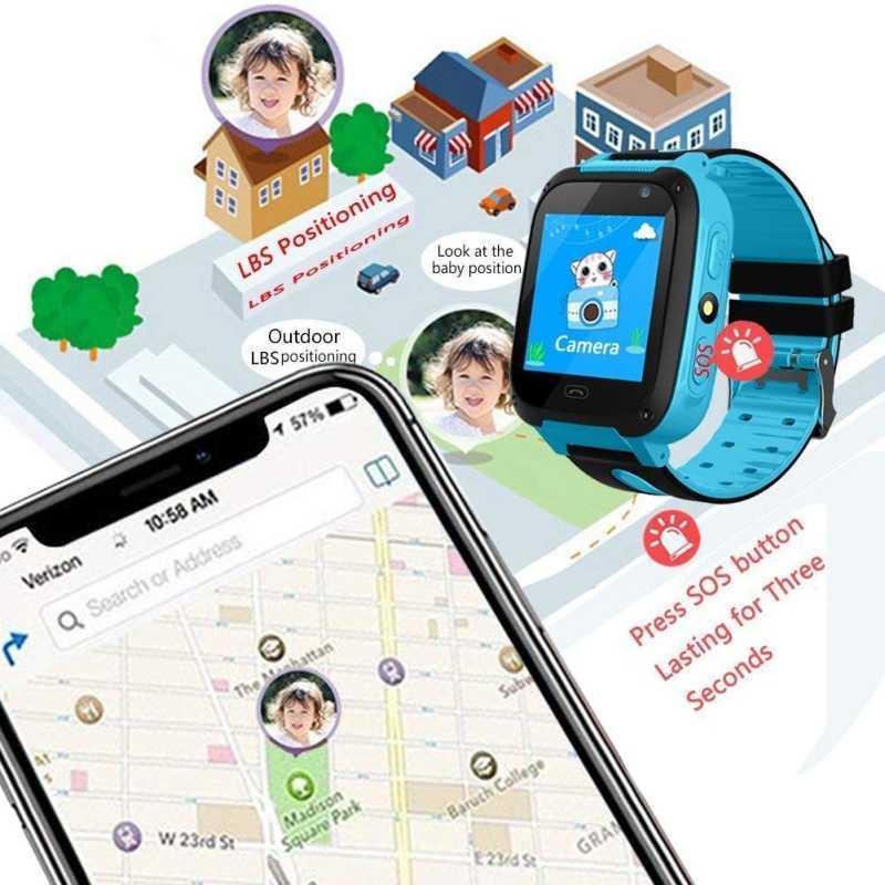 ילדי חכם שעון GPS Tracker מיקרו כרטיס ה-SIM שיחת ילד מצלמה אנטי איבד עמדה מעורר חכם שעון עבור תינוק ילדה ילד מתנה