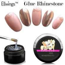 Ellwings 1pcs Glitter Glue Rhinestone UV Gel Nail Polish Adhesives Super Sticky Nail Varnish Decoration Tools