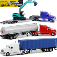 High imitation engineering container truck model,American truck,1:50 alloy model cars,free shipping