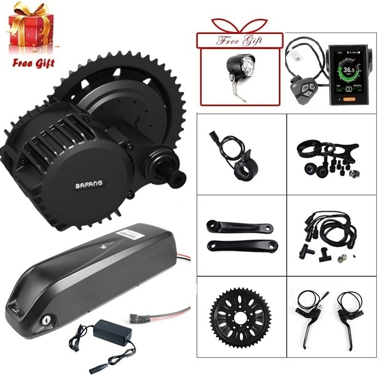 48V 1000W Bafang BBSHD BBS03 Mid Drive Motor Electric Bike Conversion Kit for Fat Scooter Bicycle