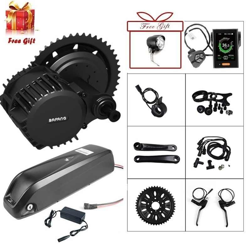 48V 1000W Bafang BBSHD BBS03 Mid Drive Motor Electric Bike Conversion Kit for Fat Scooter Bicycle W/ Samsung 48V 17.5Ah Battery