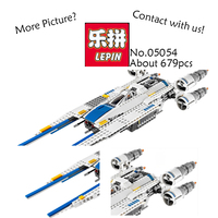 New 679pcs Lepin 05054 Genuine Star War Series The Rebel U Wing Fighter Figures Set Building