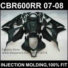 Personalizar Todos los para HONDA motocicleta F5 moldeo por Inyección negro carenados CBR 600 RR 2007 kit de 2008 carenados cbr600rr 07 08