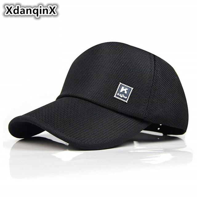 Xdanqinx Musim Panas Mesh Bernapas Bisbol Topi Outdoor Perjalanan Kerai Sun  Hat Adjustable Ukuran Fashion Wanita b729c89a2d