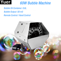 2019 New 60W Remote Bubble Machine Stage Lighting Wedding Christmas Party DJ Equipment Stage Effects Bubble Machines