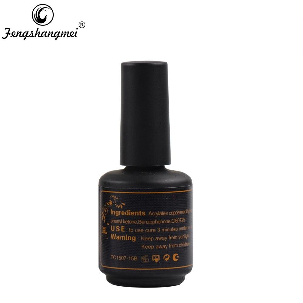 Fengshangmei 15ml Nail Gel Polish Top Coat No Cleanse Shining Clear ...