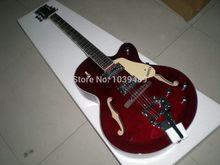 High Quality Factory Custom Gretsch Falcon 6120 Semi Hollow Jazz red Electric Guitar Bigsby Tremolo