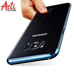 ARTISOME Boîtier En Plastique Pour Samsung Galaxy S8 S8 Plus Téléphone Cas Transparent PC Dur de Couverture Arrière Pour Samsung S8 Plus Coque En Plastique