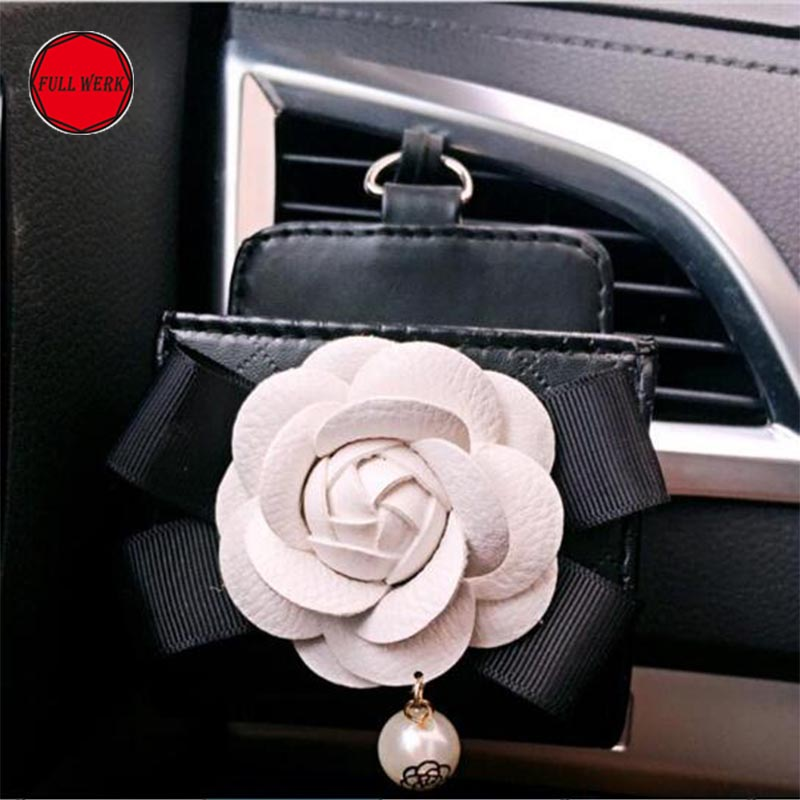 1pc Fashionable Car Air <font><b>Vent</b></font> Storage with Flower Glasses Cell <font><b>Phone</b></font> Organizer <font><b>Holder</b></font> Bag Box Case Accessory for Women Girl