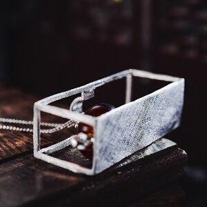 Image 4 - לוטוס כיף רגע אמיתי 925 כסף סטרלינג תכשיטים טבעי אבן בציר קומקום תליון ללא שרשרת לנשים