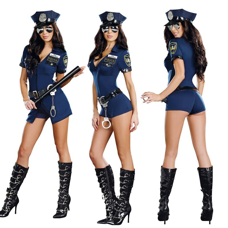Barato de Halloween trajes para mujeres de la polica Cosplay traje