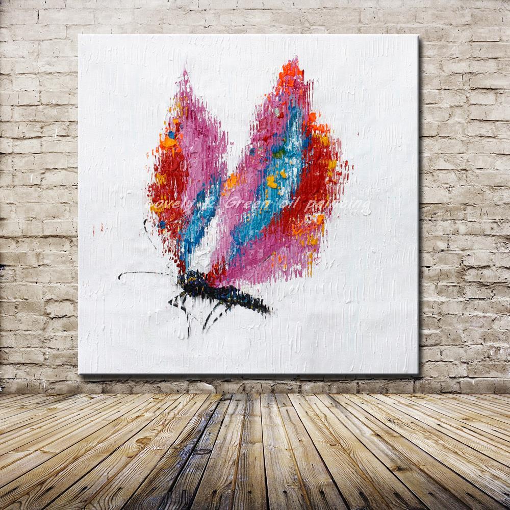 Hecho a mano libélula Animal pintura al óleo sobre lienzo imagen de ...