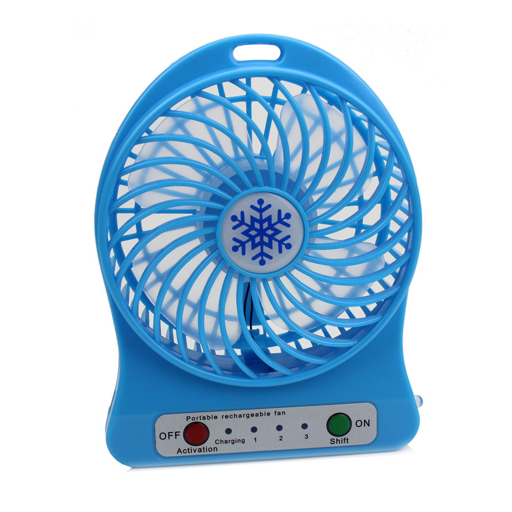 Dropshipping USB Fan Mini Electric Personal Fans LED Portable Rechargeable Desktop Fan Cooling Operated FanWithout Battery