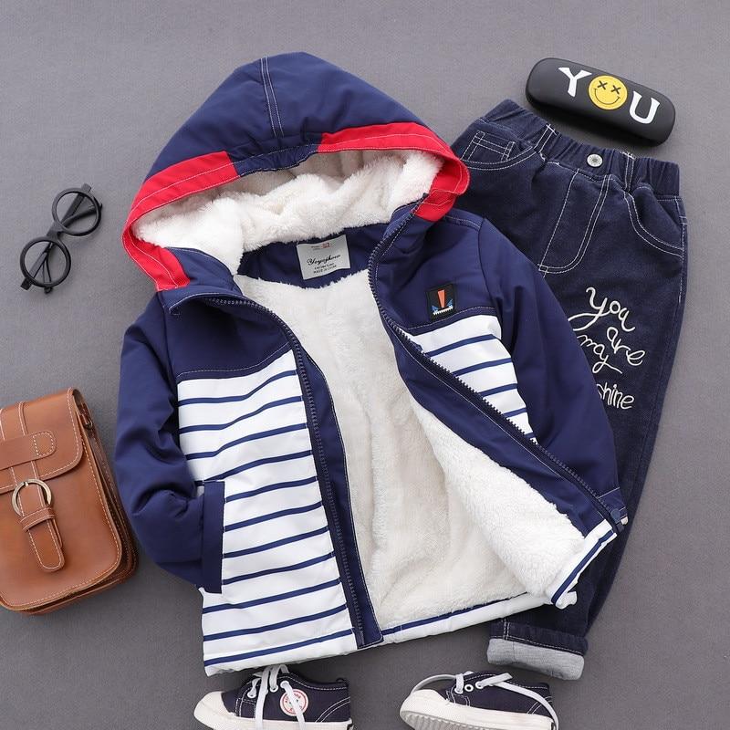 Baby Boy Winter Hoodie Jacket Autumn New Brand Kids Outerwear & Coats Boys Clothes Children Windbreaker Thicken Kids Jackets kids drawstring hoodie jacket