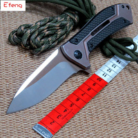 Efeng ZT 0801 CF Ball Bearing Folding Knife D2 Blade Steel Carbon Fiber Handle Camping Hunting