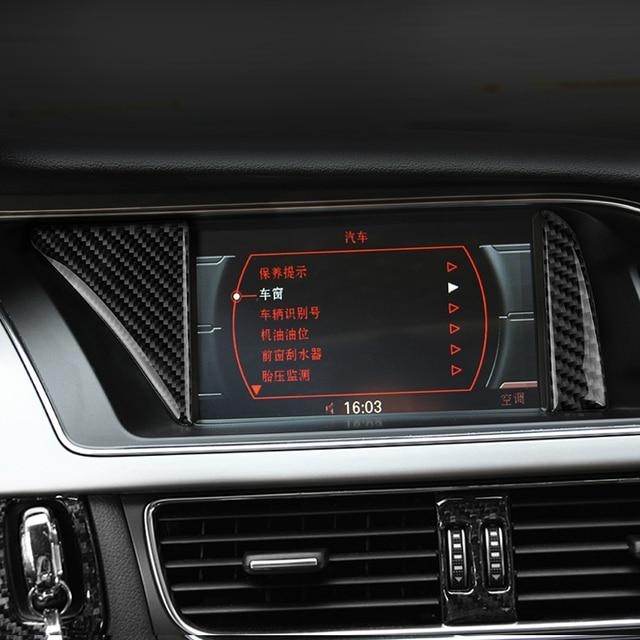 Car Styling Carbon Fiber Interior Gps Navigator Trim For Audi A4 B8