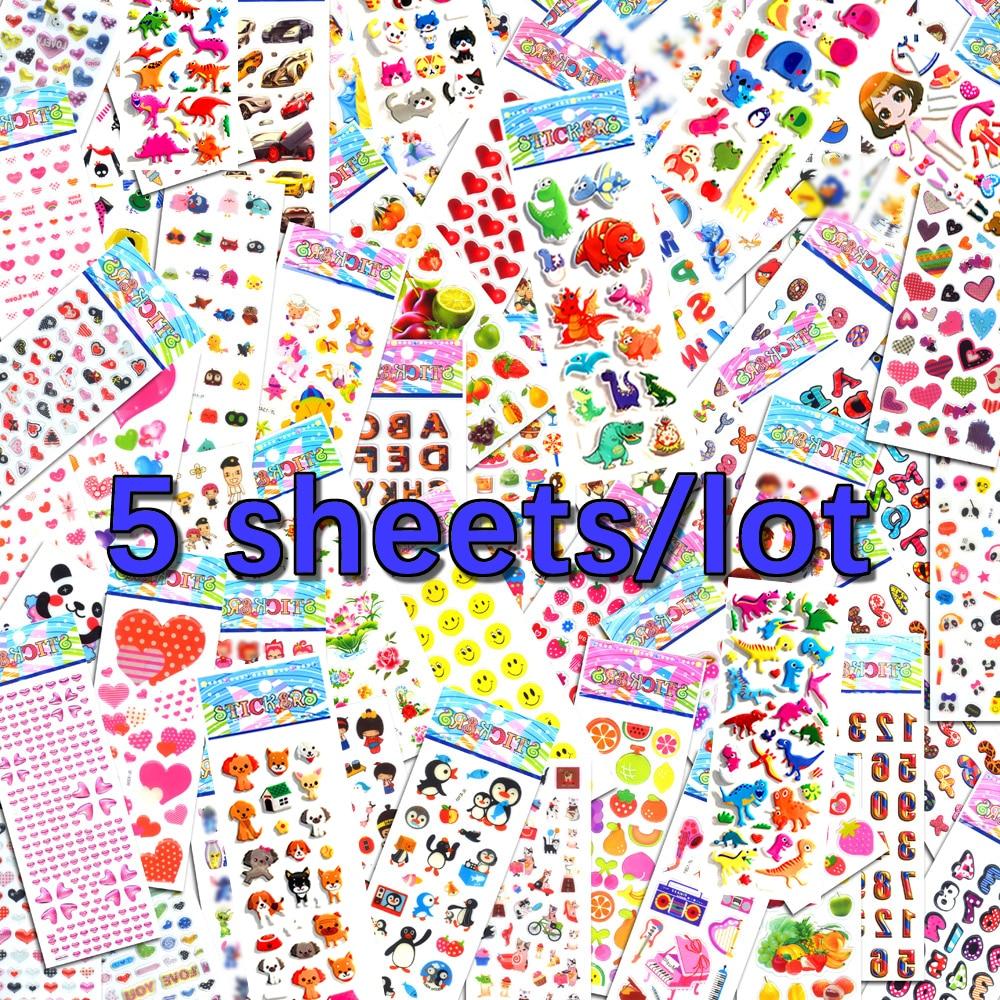 5 Sheets Lot Scrapbooking Bubble Luggage Laptop Stickers Cute Emoji Toys Teacher Reward Kids Children Factory Direct Sales M5