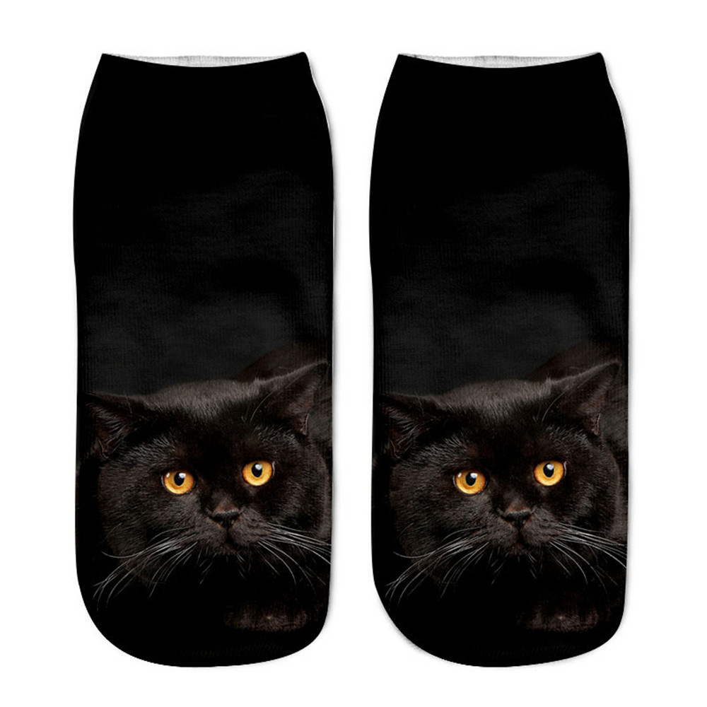 Free Ostrich 3D Printing Sock Women Fashion Funny Dogs Low Cut Ankle Socks Calcetines Hosiery Animal Shapes Meias Sock Hot2