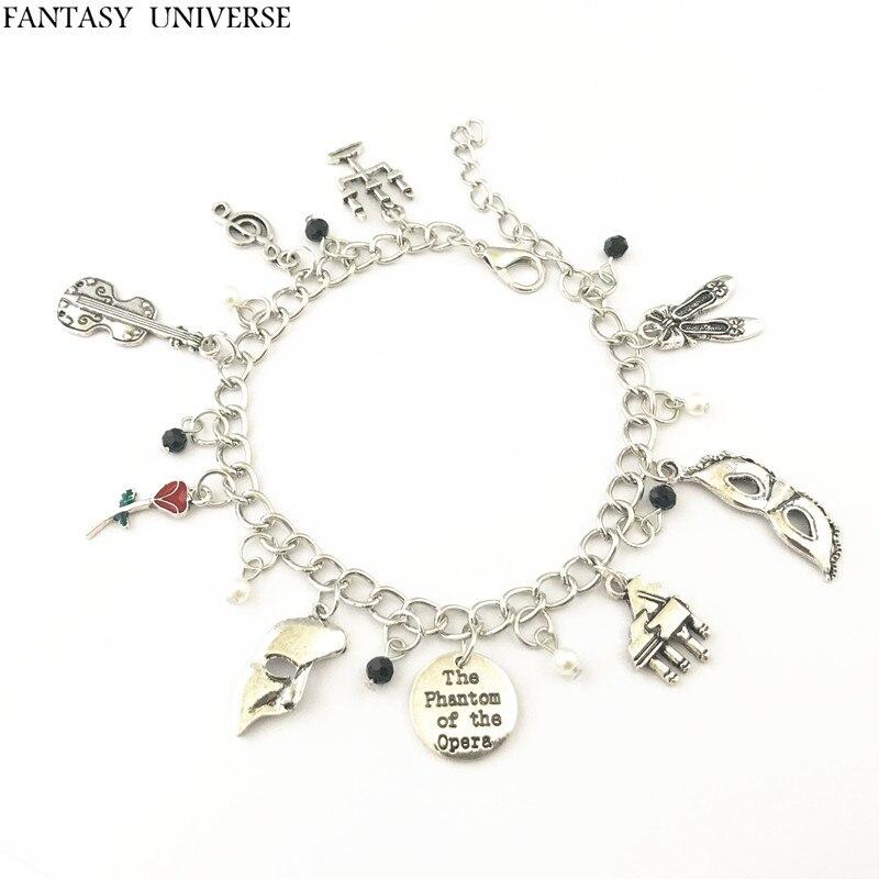 FANTASY UNIVERSE Freeshipping 1pc a lot The Phantom of the Opera Charm Bracelet HZAIJIEMEIB01