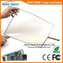 Kit de Panel de pantalla táctil USB de 15,6 pulgadas, Flexible, Compatible con Win10, con controlador USB para quiosco de fotos/ordenador portátil