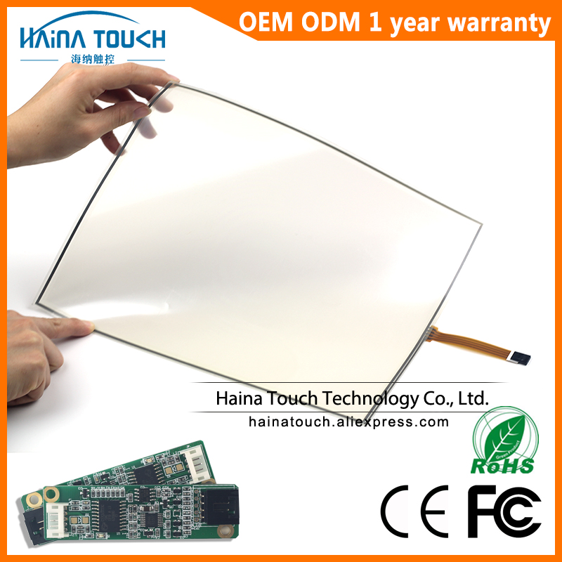 Win10 Compatible Flexible 15.6 Inch USB Touch Screen Panel Kit With USB Controller For Photo Kiosk/Laptop