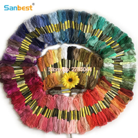 Sanbest 150 Pieces Multi Color Cross Stitch Embroidery Threads Crafts Floss Sewing Threads