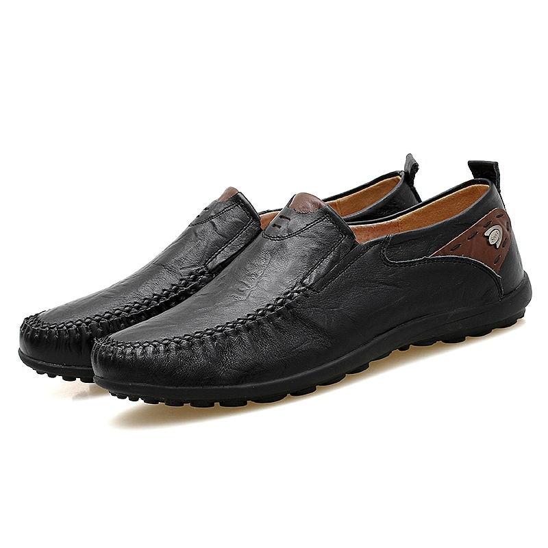 Comforable Cuir Casual En Chaussures 47 Taille Grande Pour Nouvelle Hommes Plates 38 Main Doux yellow Brown brown Black Mocassins Laisumk 0vwqE85n