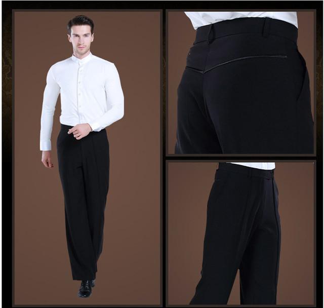 2017 new Latin Dance Trousers Pants Men/Boy Practice/Performance Pants For Dance Modern Dance Pants Mens Ballroom Dance Pants
