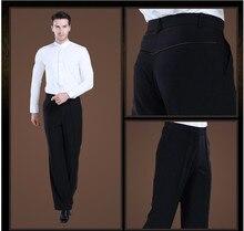 Calças Calças dos homens novos sapatos de Dança Latina Homens/Boy Prática/Desempenho Calças Para Calças de Dança Moderna Dança de Salão De Baile Dos Homens calças de dança