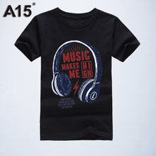 A15 Design Girls Clothing Tops Kids T Shirts Short Sleeve Summer Girls T Shirt 2020 Cotton T-Shirts for Boys 6 8 10 12 14 Year(China)