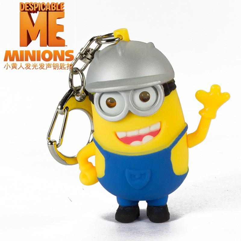 Free Charm Minions Key FOB Keychain Wristlet Grosgrain Ribbon Minions Wristlet Keychain 2 Styles Minions Minions Keychain