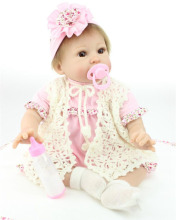 22inch Simulation Reborn Baby Lifelike Silicone Girl Alive Kids Women Nursery Training Collect Toys