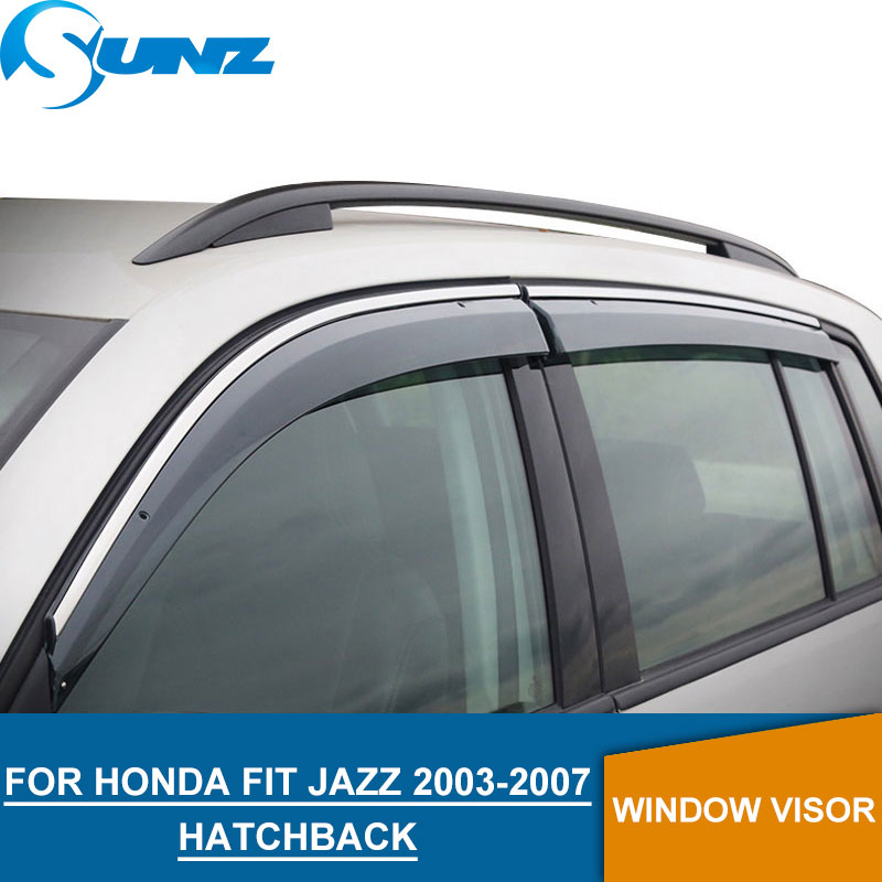 Window Visor for Honda FIT JAZZ 2003-2007 side window deflectors rain guards Hatchback SUNZ