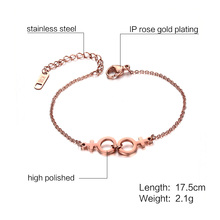 Rose Gold Stainless Steel Homosexual Satisfaction Bracelet