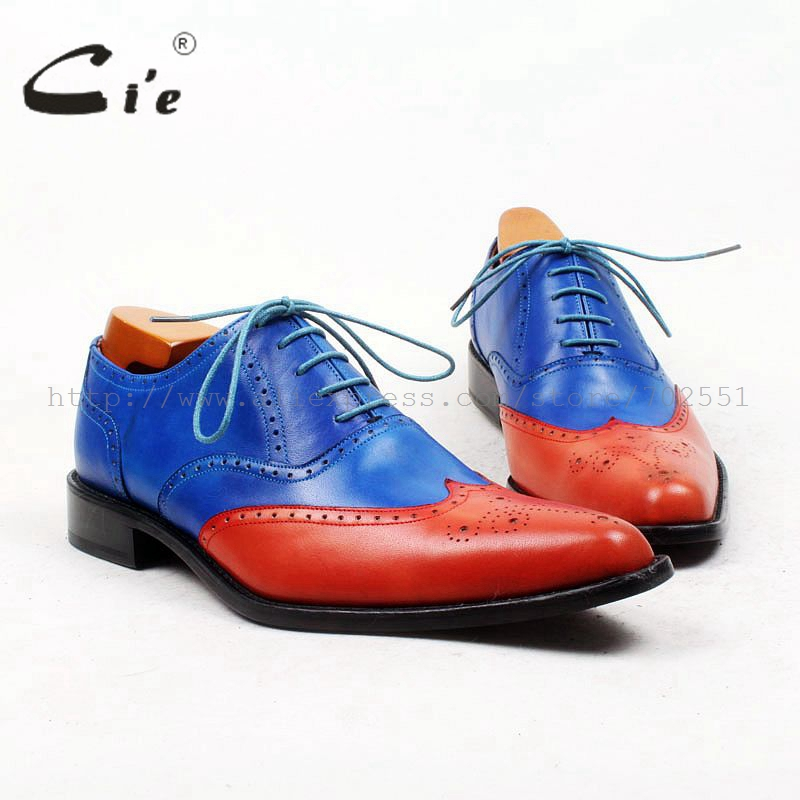 cie Free shipping goodyear craft custom handmade pure genuine calf leather outsole men's dress oxford color black shoe No.OX100 ems free shipping to avoid the customs duty custom handmade pure genuine calf leather men s dress oxford color red shoe no ox66