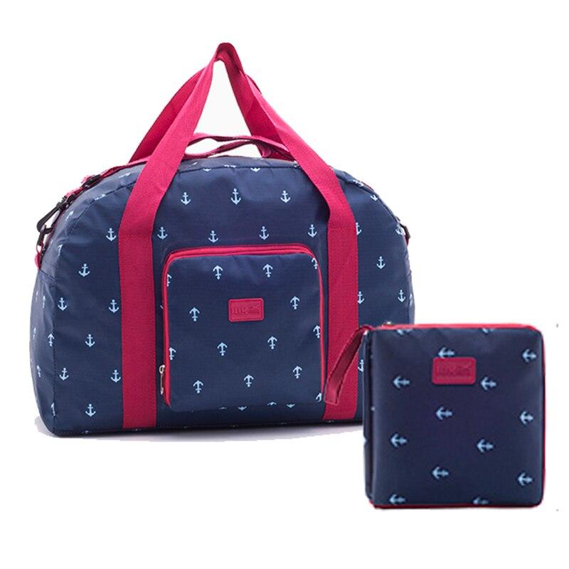 Free Shipping New Folding Travel Bag WaterProof Ultra-lig Bag Large Capacity Unisex Luggage Packing Women Nylon Travel Handbags  цена 2017