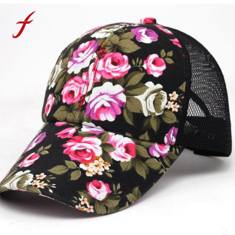 2017 Baseball  cap woman summer flowers lady  Boys Girls Snapback Hip Hop Flat Hat fashion lady s skullies womail delicate pregnant mothers soft velvet cap maternal prevention wind hat w7