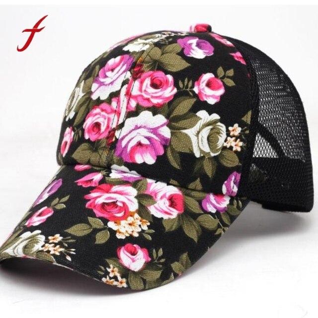 506a69b3ef0 2019 Baseball cap woman summer flowers lady Boys Girls Snapback Hip Hop  Flat Hat fashion