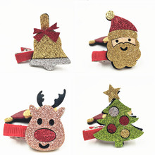 4PCS/LOT 2017 Girls Christmas Hair Accessories Set Hairpins Set Kids/Adults/Girls Hair Clips Santa/Reindeer/Bell/PineTree