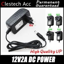 1PC Free 12V2A AC 100V-240V Converter Adapter DC 12V 2A 2000mA Power Supply EU Plug 5.5mm x 2.1-2.5mm for LED CCTV Free shipping цена 2017